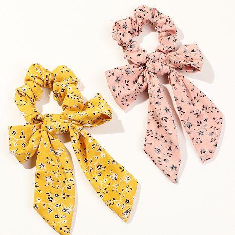 Korean bow chiffon flower head rope bundle hair large intestine ring  set  NHAU240791's discount tags