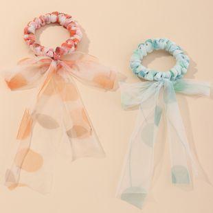 Fashion bow knot hair ring fairy streamer hair rope fresh sweet  ponytail head rope set  NHAU240799's discount tags