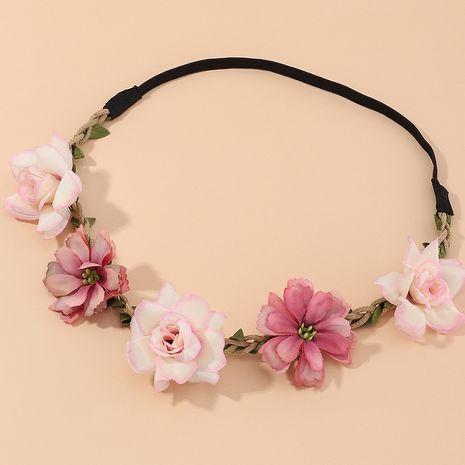 New sunflower rose flower fashion women's fresh flower headband wholesale  NHAU240800's discount tags