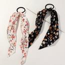 Fashion ribbon bow hair ring sweet fabric printing rubber band head rope  NHAU240814