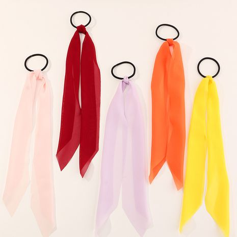 Bohemian style fairy streamer solid color hair ring long streamer wholesale NHAU240816's discount tags