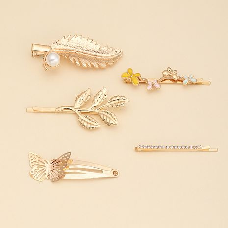 new creative hairpin butterfly leaf branch top clip broken hairpin wholesale NHAU240822's discount tags