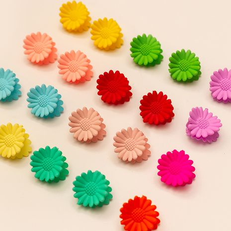 simple hairpin fashion candy color girl clip color flower braided hair clip wholesale NHAU240840's discount tags