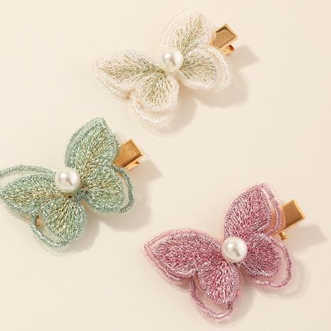gothic style retro hand embroidery bow duckbill side clip wholesale NHAU240842's discount tags