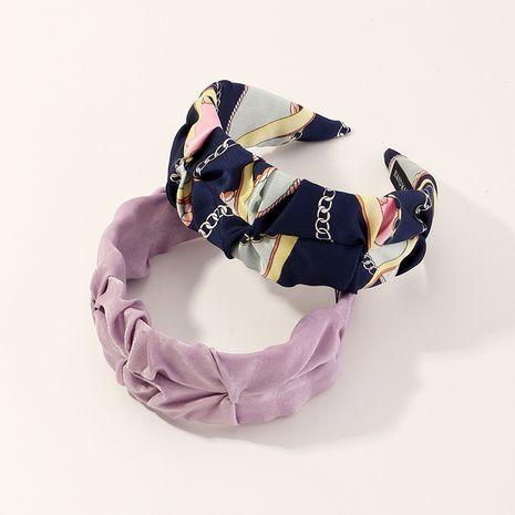 Diadema de totem retro de moda diadema de franela púrpura de ensueño NHAU240862's discount tags