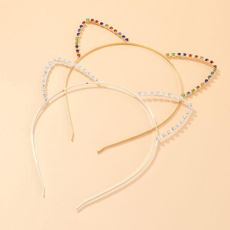 Lindo aleación de diamantes deseo venta caliente orejas de gato diadema accesorios para el cabello al por mayor NHAU240863's discount tags