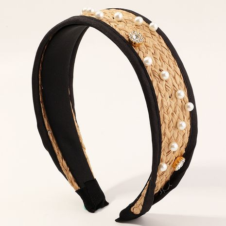 Fashion new knotted rattan pearl wild  simple headband for women wholesale NHAU240867's discount tags