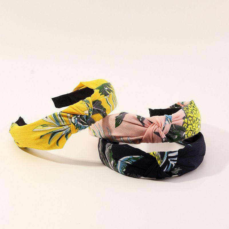 The new fashion chiffon printing hand-knotted headband  NHAU240877