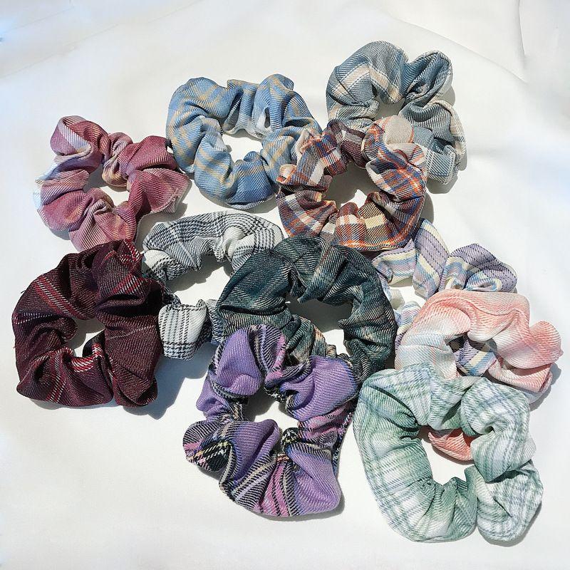 fashion fabric circle hair scrunchies Korean meatball hair rope wholesale nihaojewelry NHDQ240885