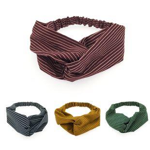 Korean  head fashion stripes cross elastic hairband  wholesale NHDQ240891's discount tags