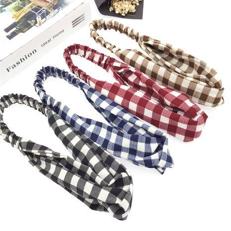 Korean fashion fabric mesh cross elastic hair band yoga hairband wholesale  NHDQ240892's discount tags