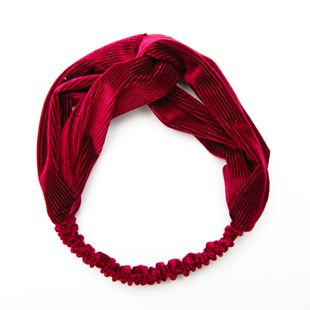 Korean simple  sweet  cross wide-brim fabric knotted gold velvet striped hair accessories  NHDQ240894's discount tags