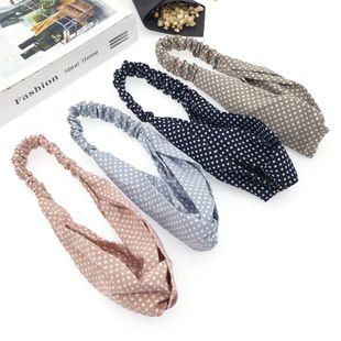 Fashion wave point hairband wild new cross elastic headband wholesale NHDQ240896's discount tags