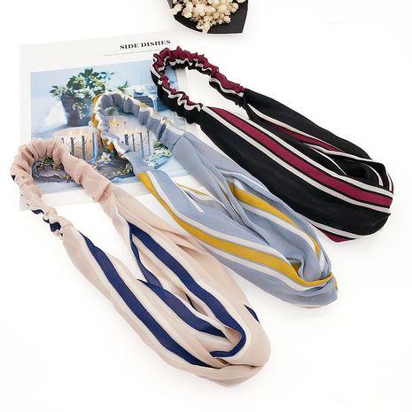 nouvelle mode rayures sauvages croix élastique presse épingle à cheveux fin tissu cheveux accessoires en gros NHDQ240901's discount tags