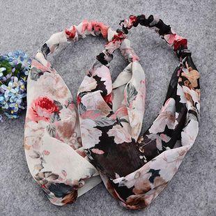 Fashion new Korean chiffon floral sunscreen headband hair accessories  wholesale NHDQ240903's discount tags