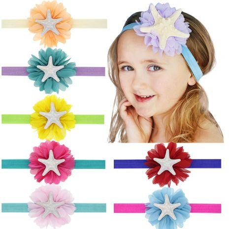 joyas para niños princesa niños tesoro elástico linda estrella de mar cabeza cuerda sirena diadema NHWO240923's discount tags