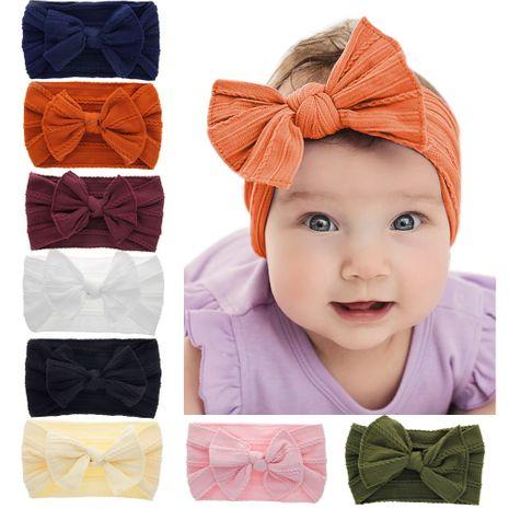 baby nylon elastic headband hemp pattern bowknot retro rabbit ear head band NHWO240924's discount tags