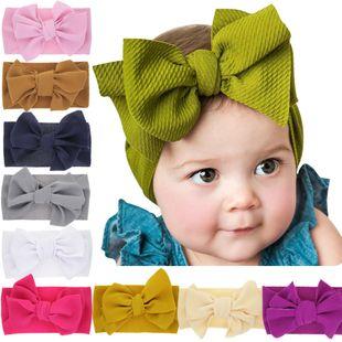 children's elastic newborn solid color bow headband baby rabbit ears widened headband  NHWO240926's discount tags