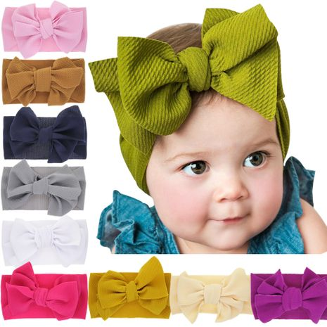 children's elastic newborn solid color bow headband baby rabbit ears widened headband  NHWO240926's discount tags