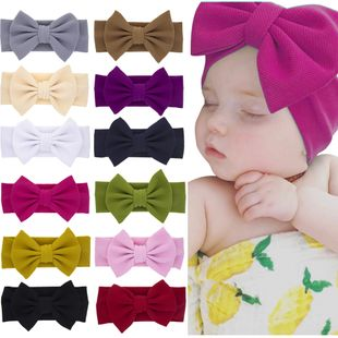 children's rabbit ears headband baby solid color bow headband  NHWO240928's discount tags