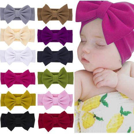 diadema de orejas de conejo para niños diadema de lazo de color sólido para bebé NHWO240928's discount tags