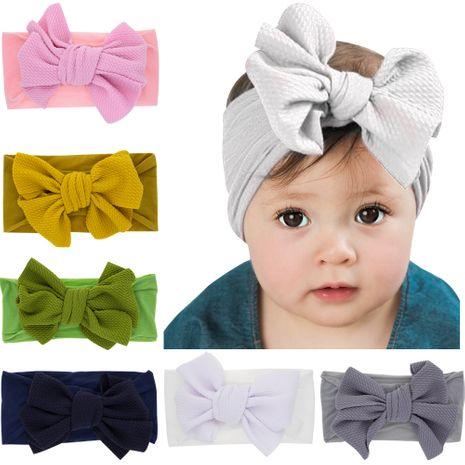 fashion children's bowknot rabbit ears newborn nylon headband  wholesale NHWO240933's discount tags