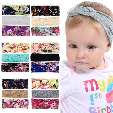 lindo bebé estampado diadema conjunto de tres piezas al por mayor NHWO240935's discount tags