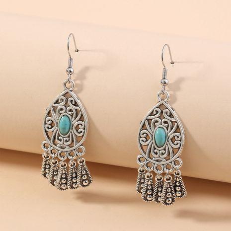 retro long tassel earrings earrings hollow water drop carved pattern jewelry wholesale nihaojewelry NHAN240939's discount tags