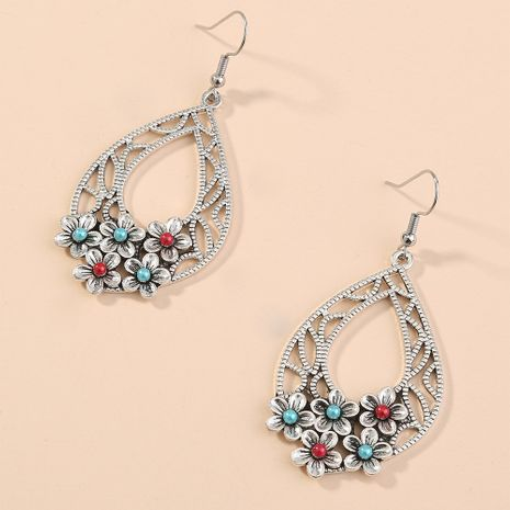 exaggerated hollow drop flower earrings retro ethnic style creative earrings wholesale nihaojewelry NHAN240942's discount tags
