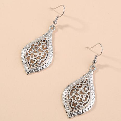 vente chaude feuille boucles d'oreilles bohème creux géométriques anciennes boucles d'oreilles en argent bijoux simples et polyvalents en gros nihaojewelry NHAN240945's discount tags