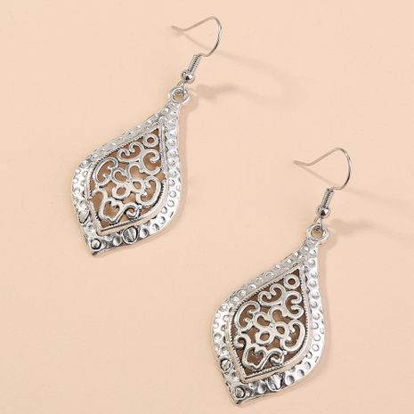 hot sell leaf bohemian earrings hollow geometric ancient silver earrings simple and versatile jewelry wholesale nihaojewelry NHAN240945's discount tags