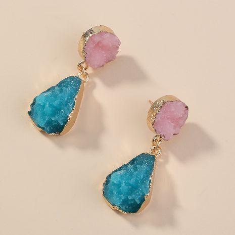 simple color crystal cluster drop earrings wholesale nihaojewelry NHAN240948's discount tags