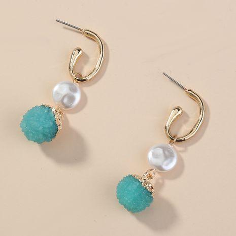 Baroque Pearl C-shaped Ear Hook Short Simple Green Earring wholesale nihaojewelry NHAN240949's discount tags