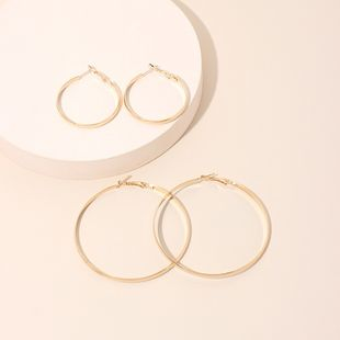 Fashion exaggerated simple extreme round retro simple geometric circle earrings for women NHRN240952's discount tags