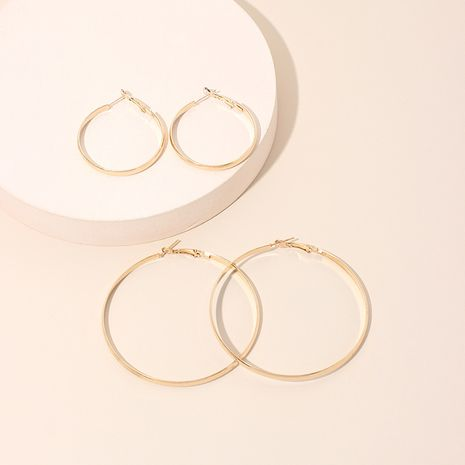 Mode exagérée simple extrême ronde rétro boucles d'oreilles simples cercle géométrique pour les femmes NHRN240952's discount tags