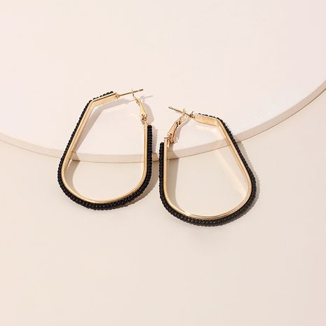 Mode nouvelles perles de riz géométriques en forme de U tissées à la main niche de marée pour femmes boucles d'oreilles de style ethnique bijoux NHRN240954's discount tags