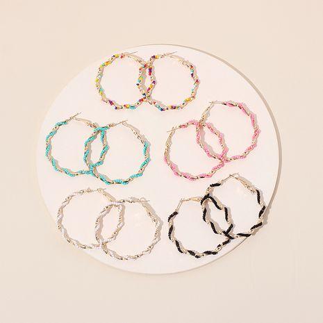 Nouvelles boucles d'oreilles à perles rondes bohèmes à la mode grand cercle exagérées pour femmes NHRN240955's discount tags