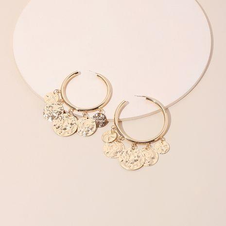 Nouveau cercle exagéré à la mode rétro boucles d'oreilles en alliage de disque rond pour femmes bijoux NHRN240957's discount tags
