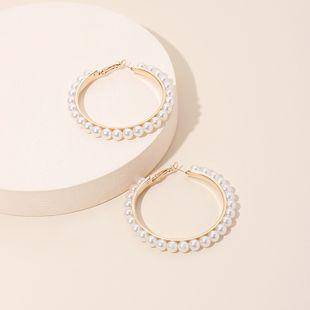 Fashion exaggerated geometric big circle pearl tide fashion earrings ear jewelry for women NHRN240958's discount tags