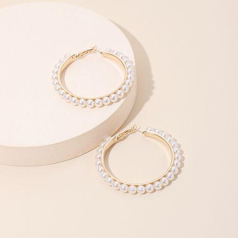 Mode exagérée géométrique grand cercle perle marée boucles d'oreilles de mode bijoux d'oreille pour les femmes NHRN240958's discount tags
