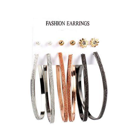 Boucles d'oreilles de mode ovales géométriques de vente chaude pour les femmes en gros NHRN240964's discount tags