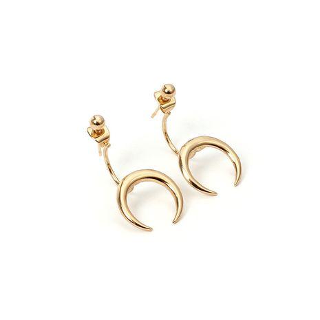 Boucles d'oreilles en métal de cornes de croissant en alliage de mode vente chaude en gros NHRN240983's discount tags