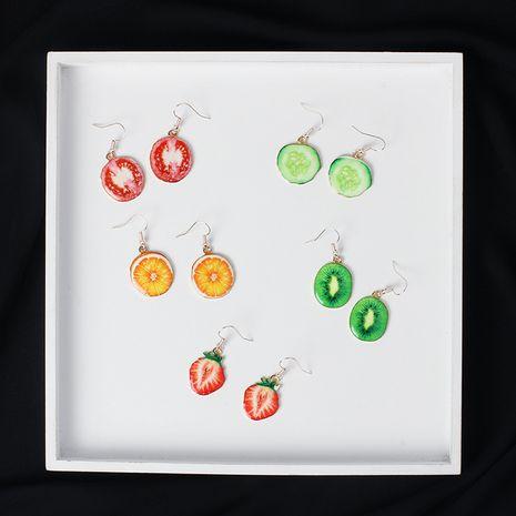 Boucles d'oreilles en alliage de bijoux sucrés et frais de vente à chaud de fruits de forme de dessin animé mignon pour les femmes NHRN240988's discount tags