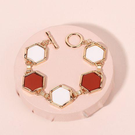 Fashion bohemian exaggerated geometric hexagon ethnic style alloy ladies bracelet  NHRN241004's discount tags
