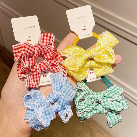 Ensemble de chouchous pour cheveux noeud en treillis pour enfants en gros Nihaojewelry NHNA241027's discount tags