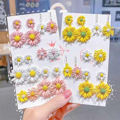 Les modèles chauds de la Corée Daisy Girl boucles d'oreilles simples boucles d'oreilles fleur en gros nihaojewelry NHNA241041's discount tags