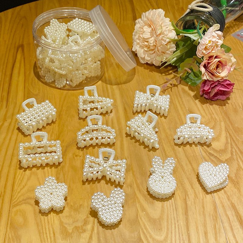 pearl hairpin small grab clip 12 cans elegant hairpin geometric bangs clip wholesale NHNA241045