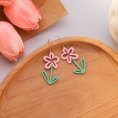 new small daisy flower round  fashion wild women's earrings  NHMS241053's discount tags