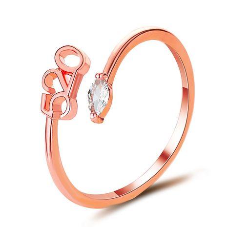 Corée nouveau 520 simple ouverture réglable anneau couple anneau en gros NHDP240743's discount tags