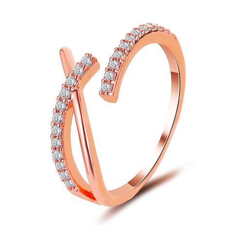La nouvelle bague croix coréenne pleine ouverture de l'anneau simple anneau d'index en gros NHDP240744's discount tags